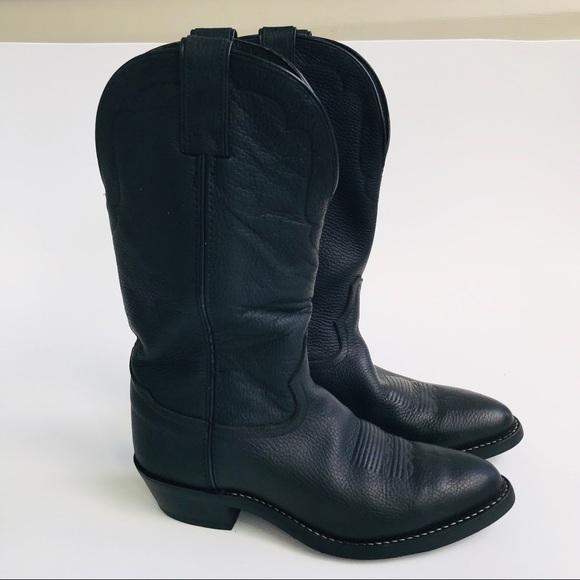 a02b7070f8b Tony Lama Vaquero Black western cowboy boots 8.5D